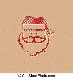 Halftone Icon - Santa head