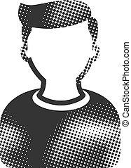 Halftone Icon - User avatar