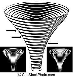 halftone, komin, wykres