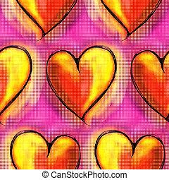 Halftone Love Heart Pattern