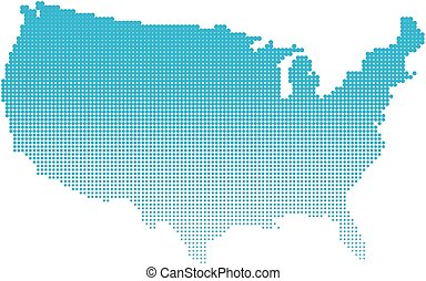 Halftone map. Editable vector illustration of a generic ...