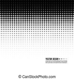 halftone, model, vektor
