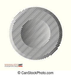 Halftone modern minimalistic geometric design for logo,...