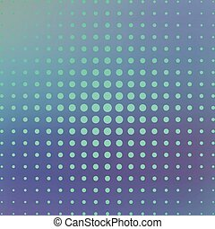 Halftone on the blue background. Vector illustration