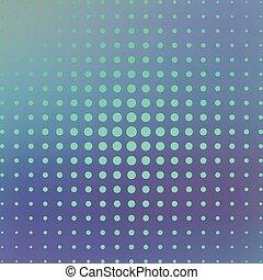 Halftone on the blue background. Vector illustration