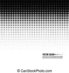 halftone, patrón, vector
