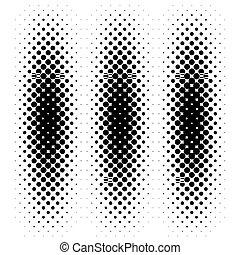 Halftone pattern - Black halftone pattern. Vector...