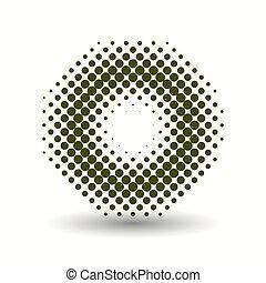 Halftone pattern - Dark circle halftone pattern. Vector...