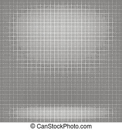 Halftone Pattern. Dots on White Background.