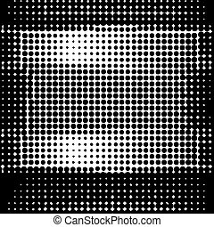 Halftone Pattern.. Dots on White Background.