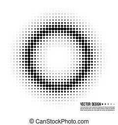 Halftone pattern vector - Abstract Halftone Background,...