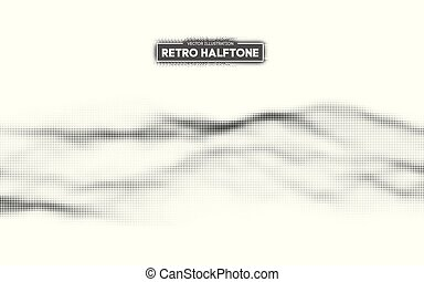Halftone pattern vector. Gradient dot pattern. Grunge halftone background ,old retro comic book design element. Vector illustration.