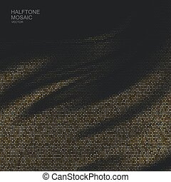 Halftone pattern. Vector illustration of textured halftone...