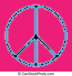 Halftone Peace Symbol Vector illustration Eps 10