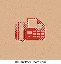 halftone, pictogram, -, facsimile