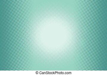 halftone, plano de fondo, verde, cómico