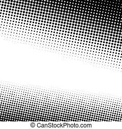 halftone, pontos, textura