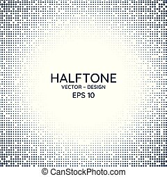Halftone poster radial style clean design with space for your text. vector illustration