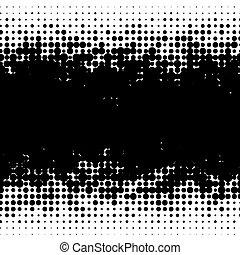 Halftone random circles, random dots illustration. Specks, ...