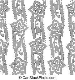 Halftone round black seamless background curve ribbon flower
