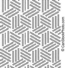 Halftone round black seamless background line cross box