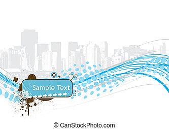 halftone sample text vector illustration