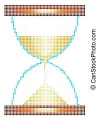 Halftone sandglass icon