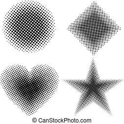 Halftone shapes