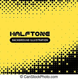 Halftone vector background