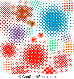 Halftone vector illustration Set background. EPS 8 vector...