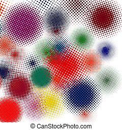 Halftone vector illustration Set background. EPS 8