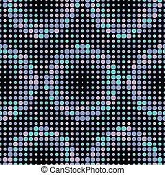 Halftone Vector Seamless Pattern