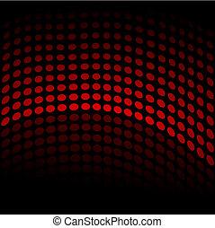 Halftone Wave - Halftone wave pattern on a black background