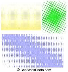halftones, halftone, patterns., komplet