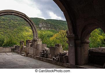 halidzor, armenien, dorf, ruinen, kapan, festung
