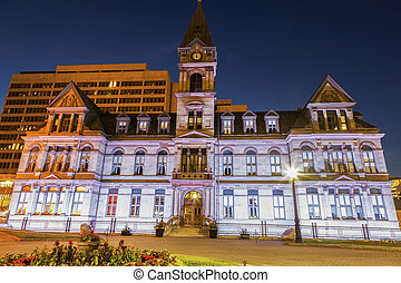 Halifax City Hall at evening