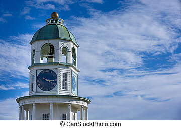 Halifax Clock Tower on Citadel Hill in Nova Scotia, Canada