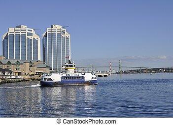 halifax, transbordador, pasajero