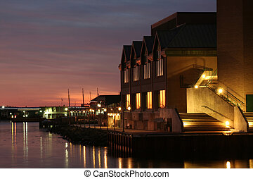Halifax Waterfront at Twilight - The Halifax waterfront...