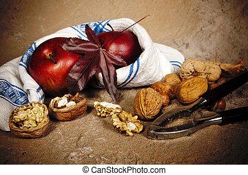 halk élet, közül, ősz, gyümölcs