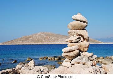 Halki island stone tower