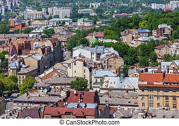 hall., 城市觀點, 夏天, lviv