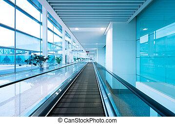 Hall and escalators