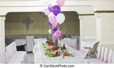 Hall decoration - Decorating a banquet hall for the...