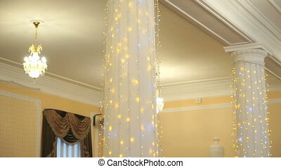 Hall decoration for wedding celebrations indoors