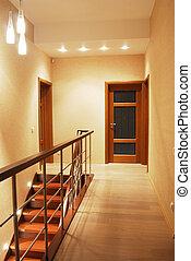 hall - elegant stair case in luxury house vertical photo
