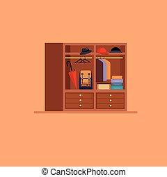 Hall elements set Flat style vector illustration