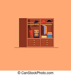 Hall elements set Flat style vector illustration
