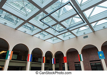 Hall for international meeting