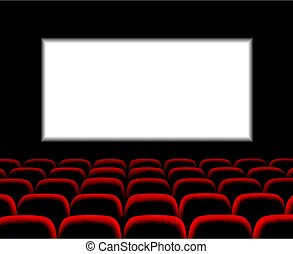 Hall for watching movies. Cinema. Concert hall. Vector 3d ...